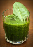 Juice of spinach Royalty Free Stock Image