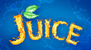 Juice splash Stock Image