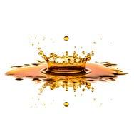 Juice Splash auf Weiß Stockfotografie