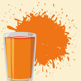 Juice splash design Stock Images