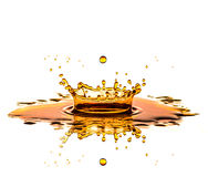 Juice Splash no branco Fotografia de Stock