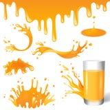 Juice splashes Stock Photography