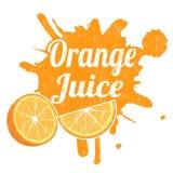 Juice Stamp anaranjado Fotos de archivo