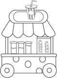 Juice stand coloring page Royalty Free Stock Photography