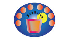 Juice-sticker Royalty Free Stock Photography