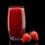 Juice Strawberry Arkivfoto
