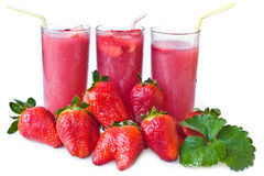 juice and  strawberry Royalty Free Stock Image