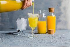 Juice Summer Concept Healthy Drink anaranjado fresco foto de archivo libre de regalías