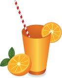 Juice Summer Refreshment alaranjado ilustração do vetor