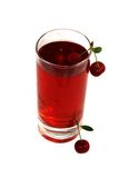 Juice of a sweet cherry Stock Images