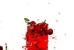 Juice of a sweet cherry Royalty Free Stock Photos