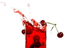 Juice of a sweet cherry Stock Image