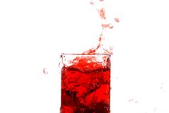 Juice of a sweet cherry Royalty Free Stock Images