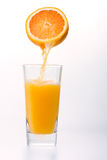 Juice to pour from orange. Juice to pour from juicy orange Royalty Free Stock Photo