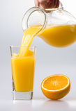 Juice to pour from pitcher Royalty Free Stock Photo