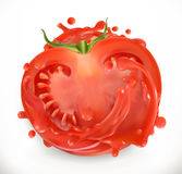 juice tomato φρέσκο ιαπωνικό λαχανικό σαλάτας τροφίμων διάνυσμα εικονιδίων εργαλείων Στοκ Εικόνες