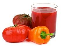 juice tomato Fotografering för Bildbyråer
