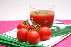 Juice of tomatoes Royalty Free Stock Photo