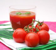Juice of tomatoes Royalty Free Stock Images