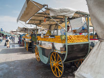 Juice Vendor At Djema El Fna Square - Marrakesh Royalty Free Stock Photos