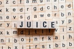 Juice word concept royalty free stock images
