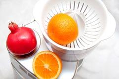 Juicer με τα φρούτα Στοκ φωτογραφίες με δικαίωμα ελεύθερης χρήσης