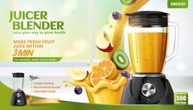 Juicer blender reklamy royalty ilustracja