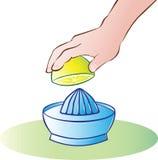Juicer del limón Foto de archivo libre de regalías