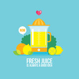 Juicer Fresh vegetables greens and fruits Colorful Food banner Royalty Free Stock Photography