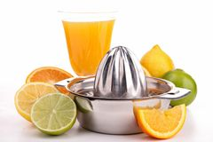 Juicer and fruits Royalty Free Stock Image