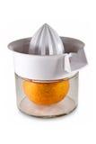 Juicer intérieur d'orange fraîche Photos libres de droits