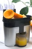 Juicer with lemons and oranges Royalty Free Stock Photos