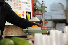 Juicer at the market in Jerusalem Stock Photos