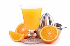 Juicer and orange Stock Photos