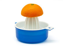 Juicer With Oranges Royalty Free Stock Photos