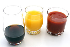 Juices. On the white background Stock Images