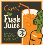 Juices carrot Royalty Free Stock Images
