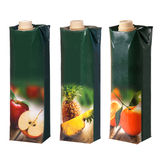 Juices cartons with screw cap Royalty Free Stock Photography