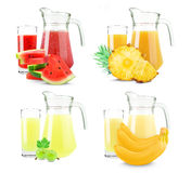 Juices collage Royalty Free Stock Images