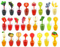 Juices collage Stock Photography