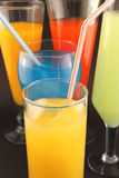 Juices of different colors Stock Photos