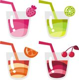 Juices and drinks Stock Photography