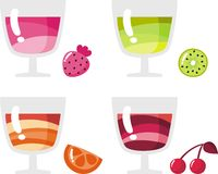 Juices and drinks Stock Image