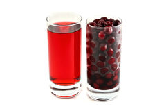 Juices and frozen berries. 