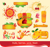 Juices, fruit Royalty Free Stock Image
