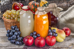 Juices with fruits Stock Photo