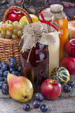 Juices with fruits Royalty Free Stock Image