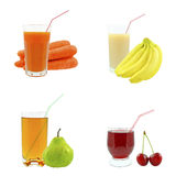 Juices from fruits and vegetables Stock Photo