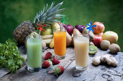 Juices of mixed fruit Royalty Free Stock Photography