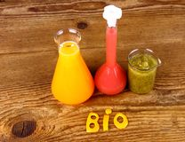 Juices from test tube, biochemistry concept royalty free stock photo